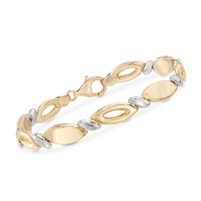 Italian Two-Tone Link Bracelet, , default