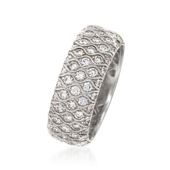 Simon G. 2.04 ct. t.w. Diamond Wedding Ring in 18kt White Gold. Size 6.5, , default