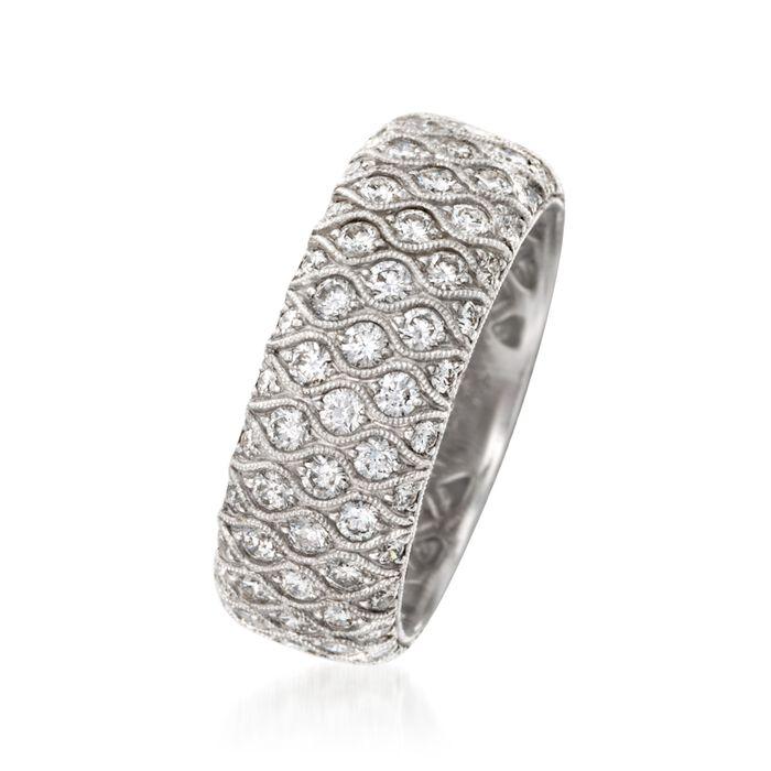 Simon G. 2.04 ct. t.w. Diamond Wedding Ring in 18kt White Gold
