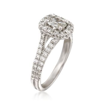 Henri Daussi 1.17 ct. t.w. Diamond Engagement Ring in 18kt White Gold, , default