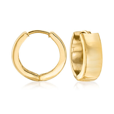 Italian 18kt Yellow Gold Huggie Hoop Earrings