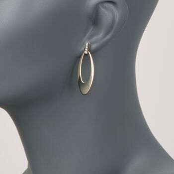 """Roberto Coin """"Chic & Shine"""" 18kt Yellow Gold Drop Earrings with Diamond Accents, , default"""