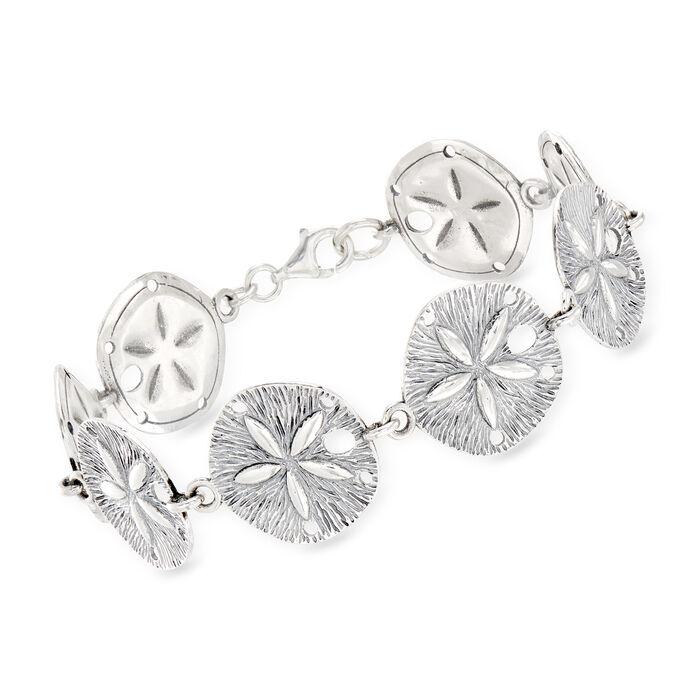 Sterling Silver Sand Dollar Bracelet, , default