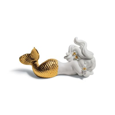 "Lladro ""Daydreaming at Sea"" Golden Re-Deco Porcelain Figurine, , default"