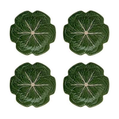 "Bordallo Pinheiro ""Cabbage"" Set of Four Dinner Plates, , default"