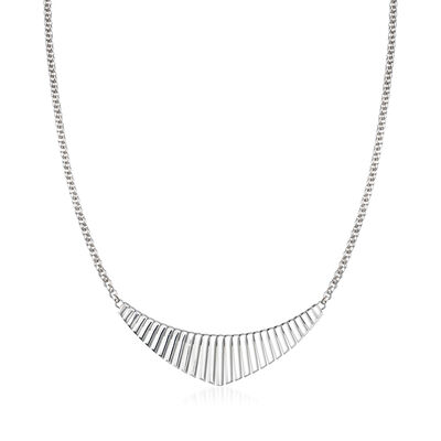 "Charles Garnier ""Cleopatra"" Sterling Silver Small Bib Necklace"