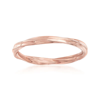 18kt Rose Gold Twisted Ring, , default