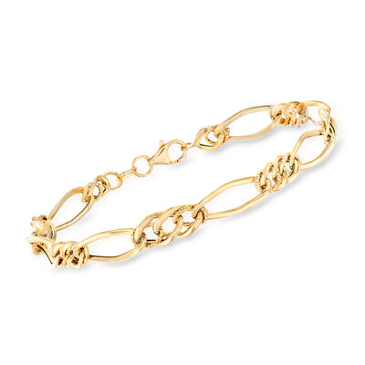 Italian 18kt Yellow Gold Multi-Link Bracelet, , default