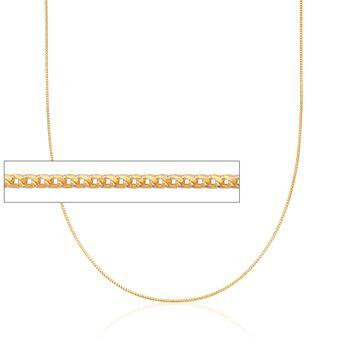 Italian 1mm 18kt Yellow Gold Diamond-Cut Adjustable-Slider Franco Chain, , default