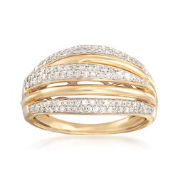 .49 ct. t.w. Diamond Multi-Row Ring in 14kt Yellow Gold, , default