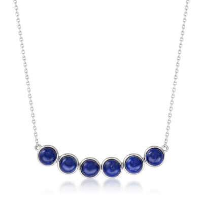 Lapis Necklace in Sterling Silver