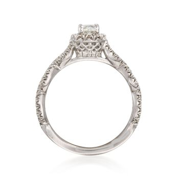 Henri Daussi .95 ct. t.w. Certified Diamond Engagement Ring in 18kt White Gold, , default