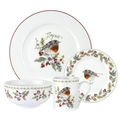"Spode ""Robin Wreath"" 16-pc. Service for 4 Dinnerware Set"