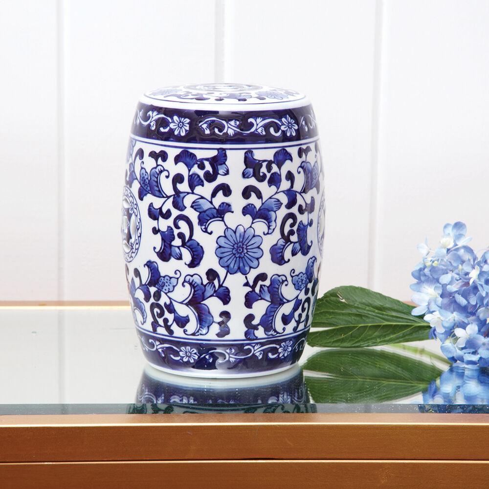 Miraculous Blue Chinoiserie Porcelain Mini Garden Stool Creativecarmelina Interior Chair Design Creativecarmelinacom