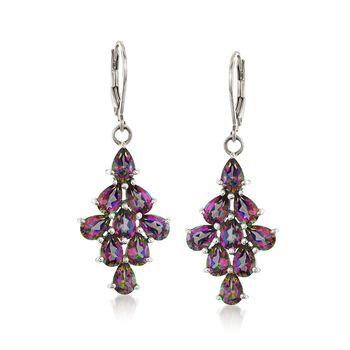 8.75 ct. t.w. Mystic Topaz Drop Earrings in Sterling Silver, , default