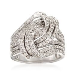 1.45 ct. t.w. Diamond Swirl Ring in Sterling Silver, , default