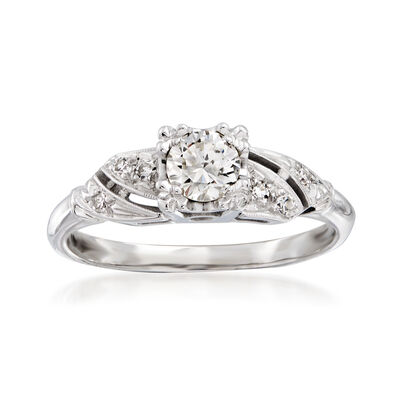 C. 1950 Vintage .36 ct. t.w. Diamond Ring in 14kt White Gold