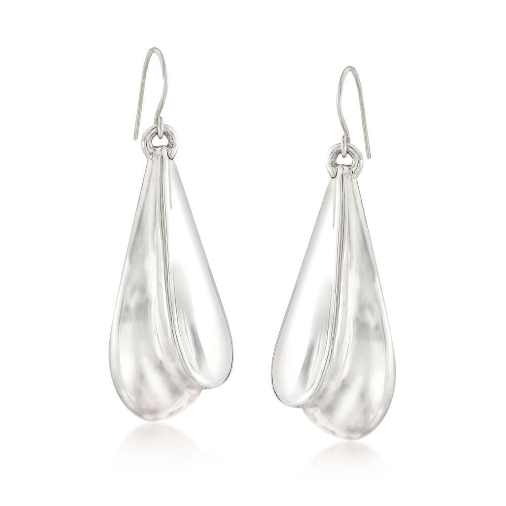 Sterling Silver Double Teardrop Earrings Default