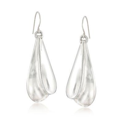 Sterling Silver Double Teardrop Earrings, , default