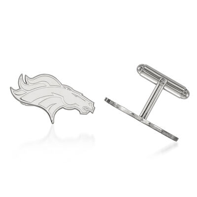 Sterling Silver NFL Denver Broncos Cuff Links, , default