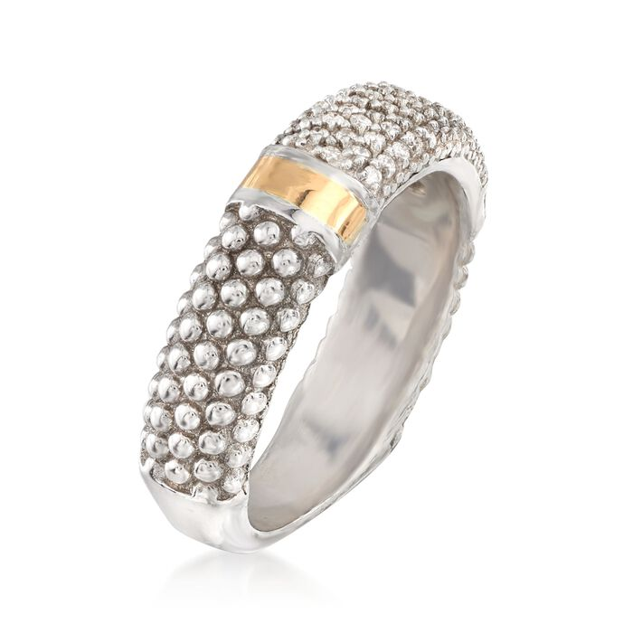 """Phillip Gavriel """"Popcorn"""" .26 ct. t.w. Diamond Ring in Sterling Silver and 18kt Gold"""