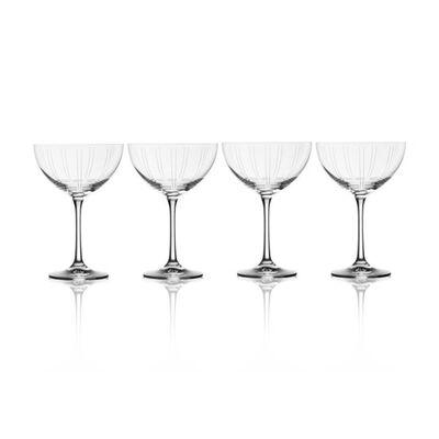 "Mikasa ""Berlin"" Set of 4 Champagne Glasses"