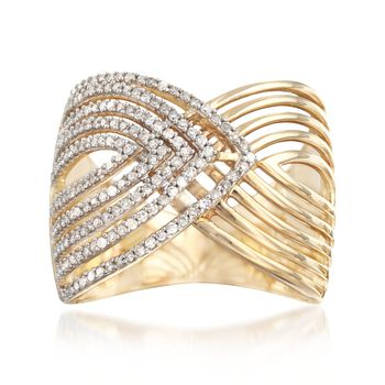 .50 ct. t.w. Diamond Overlapping Ring in 14kt Yellow Gold, , default