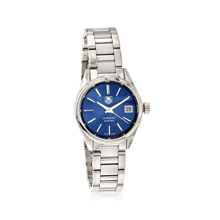 TAG Heuer Carrera Men's 28mm Automatic Stainless Steel Watch - Blue Dial, , default