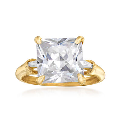 5.10 ct. t.w. CZ Ring in 14kt Yellow Gold, , default