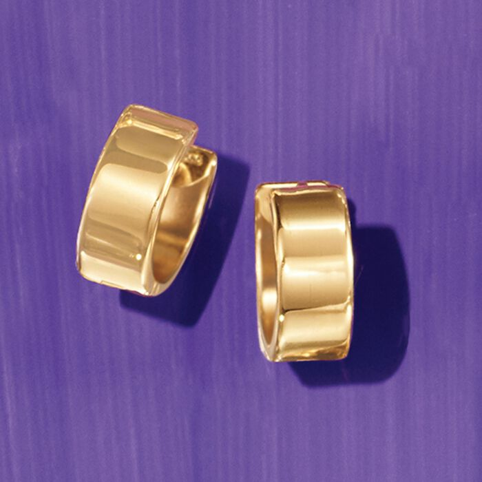 14kt Yellow Gold Small Polished Hoop Earrings