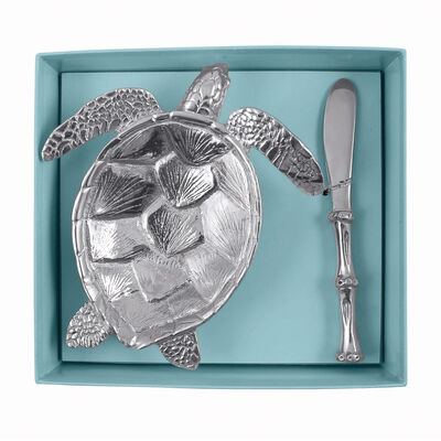 "Mariposa ""Palmy Nights"" Sea Turtle Dish Set, , default"