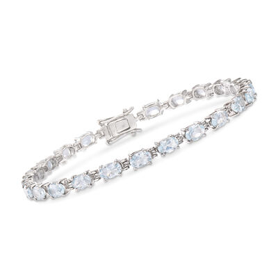 8.25 ct. t.w. Aquamarine Bracelet in Sterling Silver