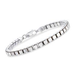 Italian 4.5mm Sterling Silver Box Chain Bracelet, , default