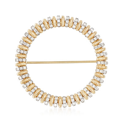 1.00 ct. t.w. Diamond Circle Pin in 14kt Yellow Gold, , default