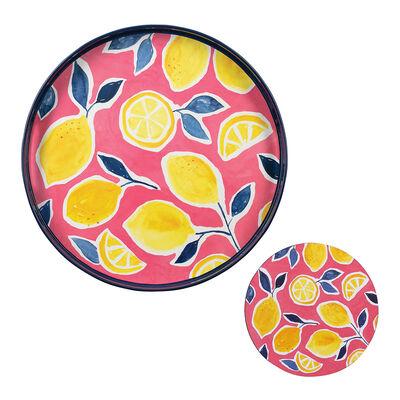 Lemon Tray and Set of 4 Coasters