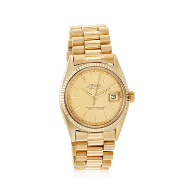 Certified Pre-Owned Rolex Datejust Men's 36mm Automatic Watch in 18kt Yellow Gold, , default