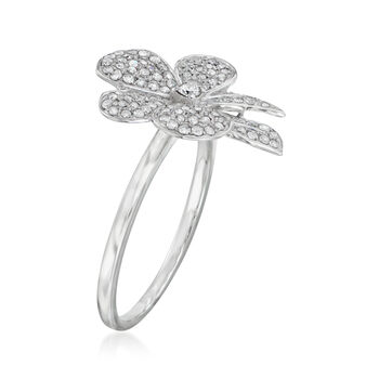 .35 ct. t.w. Diamond Flower Ring in 14kt White Gold, , default