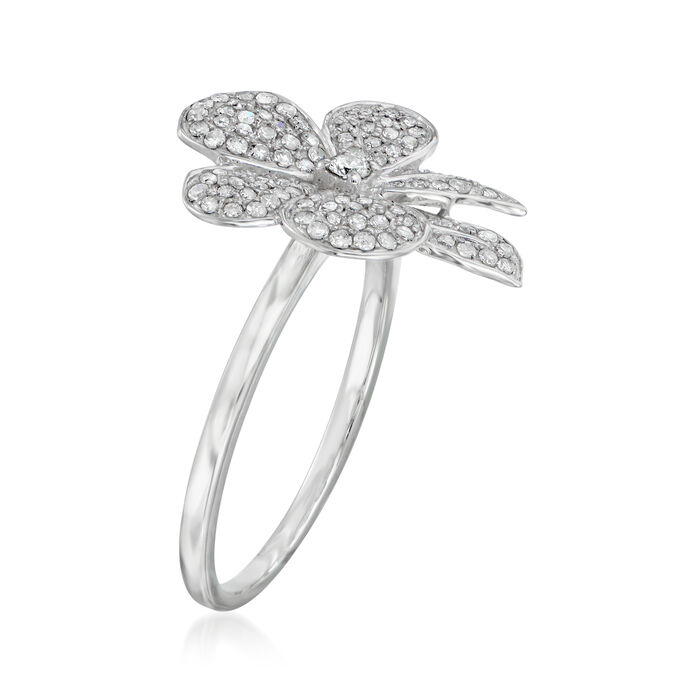 .35 ct. t.w. Diamond Flower Ring in 14kt White Gold