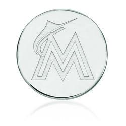 Sterling Silver Mlb Miami Marlins Lapel Pin, , default