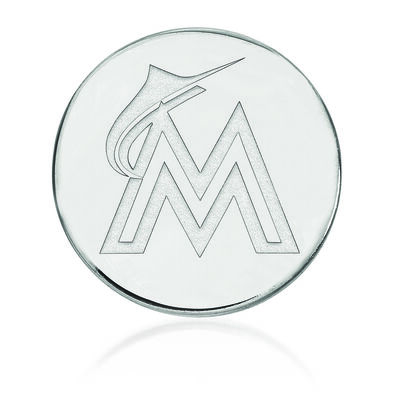Sterling Silver MLB Miami Marlins Lapel Pin, , default