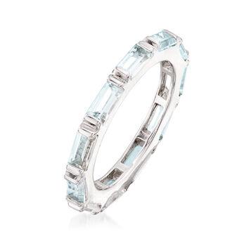 2.40 ct. t.w. Blue Topaz Eternity Ring in Sterling Silver, , default