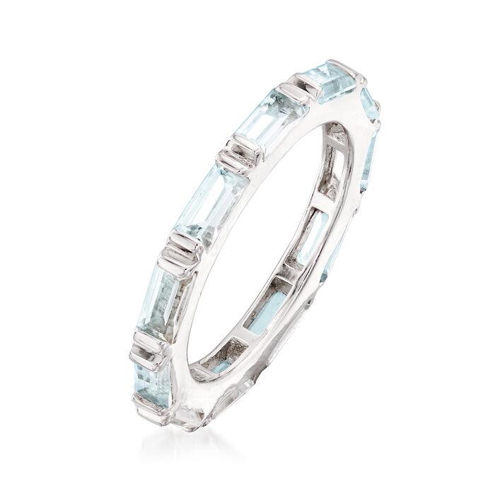 2.40 ct. t.w. Blue Topaz Eternity Ring in Sterling Silver