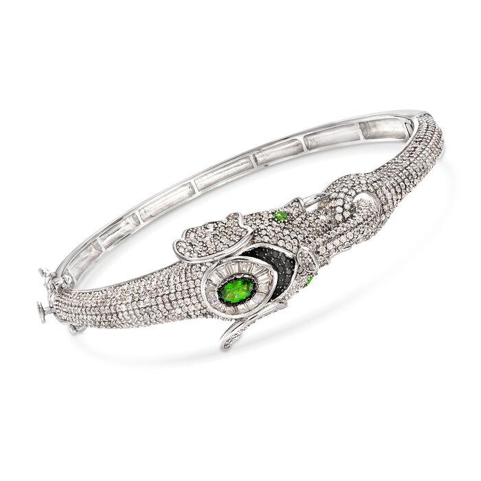 7.55 ct. t.w. Multi-Stone Elephant Bangle Bracelet in Sterling Silver