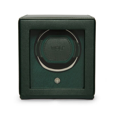 "Wolf ""Cub"" Green Leather Watch Winder, , default"