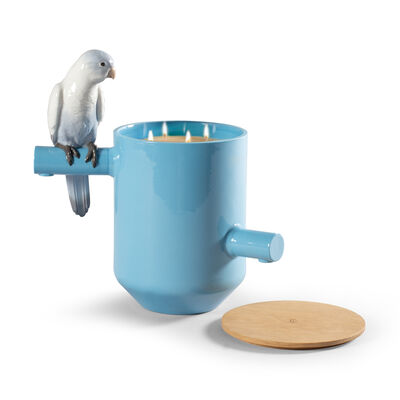 Lladro Blue Parrot Scented Treasure Candle