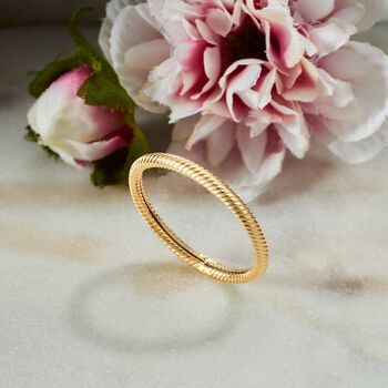 2mm 18kt Yellow Gold Twisted Ring, , default