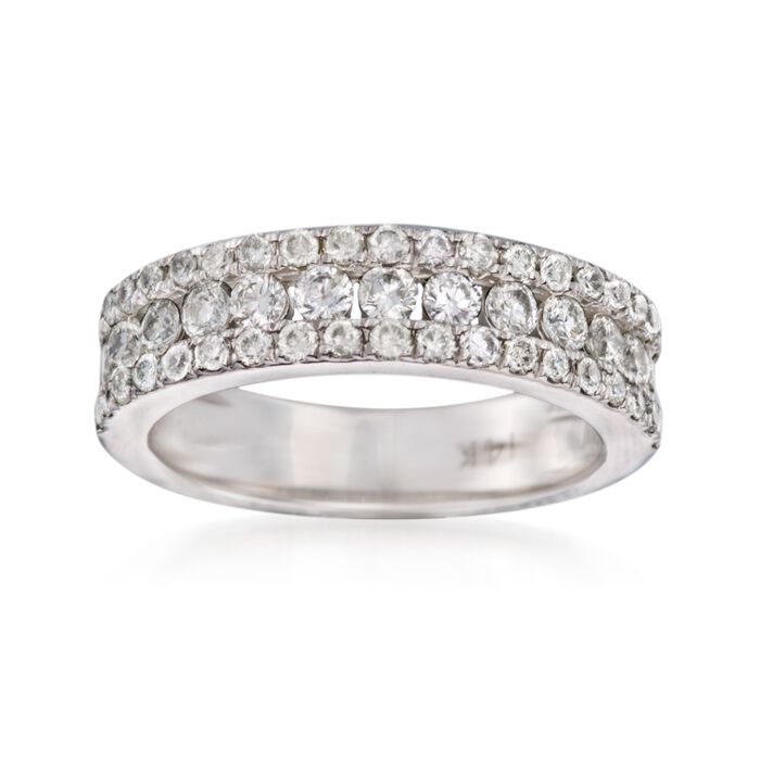 1.00 ct. t.w. Diamond Wedding Ring in 14kt White Gold, , default