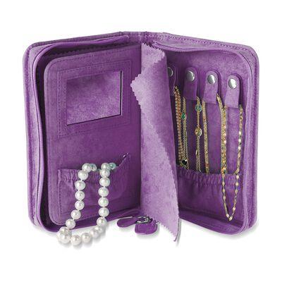 Wisteria Microsuede Travel Jewelry Case, , default
