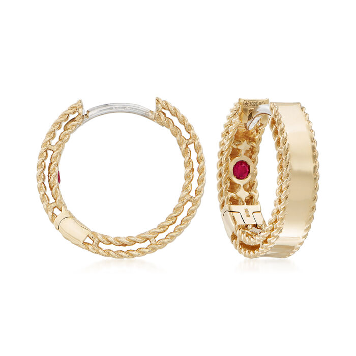 "Roberto Coin ""Symphony Golden Gate  18kt Yellow Gold Hoop Earrings"