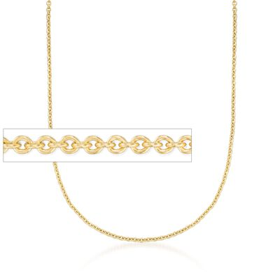 2.2mm 14kt Yellow Gold Forzantina Chain Necklace, , default